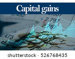 capital gains   abstract... | Shutterstock . vector #526768435
