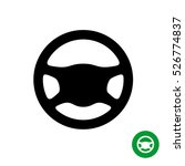 driving wheel icon. black... | Shutterstock .eps vector #526774837