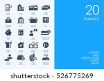 set of finance icons | Shutterstock .eps vector #526775269