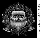 Christmas Symbol. Santa Claus...