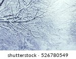 snow on a tree branches. winter ... | Shutterstock . vector #526780549