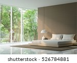 Modern Peaceful Bedroom In The...