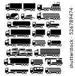 vector trucks icons set | Shutterstock .eps vector #526789474