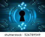 safety concept  closed padlock... | Shutterstock .eps vector #526789549