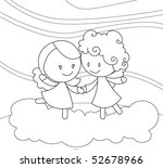 black and white dancing angels | Shutterstock . vector #52678966