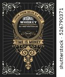 whiskey design for label and... | Shutterstock .eps vector #526790371