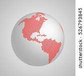 vector planet earth globe with... | Shutterstock .eps vector #526793845