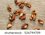 walnut kernels and whole... | Shutterstock . vector #526794709
