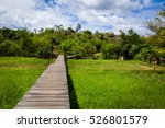 wood bridge between road and... | Shutterstock . vector #526801579