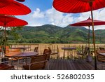 terrace near mekong river view... | Shutterstock . vector #526802035