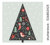 christmas tree | Shutterstock .eps vector #526802425