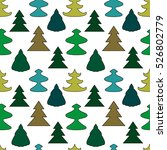 seamless pattern with christmas ... | Shutterstock .eps vector #526802779