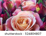 Colorful Rose Bouquet With Lily ...