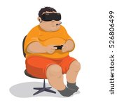 fat man in shorts with a... | Shutterstock .eps vector #526806499