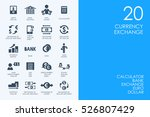 set of currency exchange icons | Shutterstock .eps vector #526807429