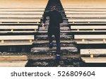 young man runner in sport... | Shutterstock . vector #526809604