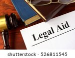 papers with title legal aid on...   Shutterstock . vector #526811545