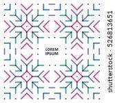 template a bracket a pattern...   Shutterstock .eps vector #526813651