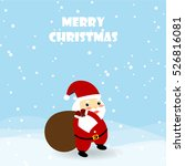 christmas card with santa claus ... | Shutterstock .eps vector #526816081