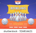 bowling poster vector... | Shutterstock .eps vector #526816621