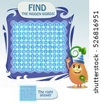 zigzag word search puzzle ... | Shutterstock .eps vector #526816951