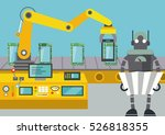 robot controlled tablets pc... | Shutterstock .eps vector #526818355