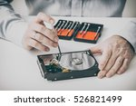 data hard drive backup disc hdd ... | Shutterstock . vector #526821499