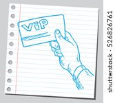 vip card in hand | Shutterstock .eps vector #526826761
