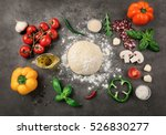 Raw Dough For Pizza With...
