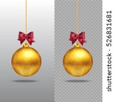 template of  christmas gold... | Shutterstock .eps vector #526831681