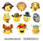 A Set Of History Themed Emoji...