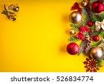 Yellow Christmas Background...