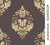 seamless classic vector golden...   Shutterstock .eps vector #526835239