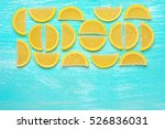 lemon segment shaped candied... | Shutterstock . vector #526836031