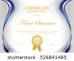 certificate of appreciation... | Shutterstock .eps vector #526841485