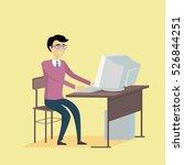 computer science concept . flat ... | Shutterstock . vector #526844251