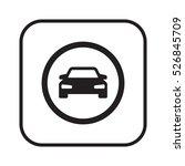 car icon. flat design. | Shutterstock .eps vector #526845709