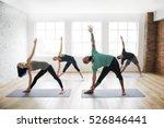 yoga practice exercise class... | Shutterstock . vector #526846441