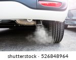 pipe exhaust car smoke emission ... | Shutterstock . vector #526848964