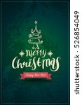 greeting card with merry... | Shutterstock .eps vector #526854049