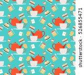 vector illustration tea time...   Shutterstock .eps vector #526855471