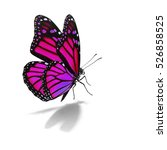 Stock photo beautiful pink monarch butterfly isolated on white background 526858525