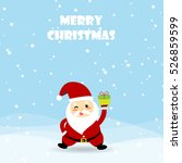 christmas card with santa claus ... | Shutterstock .eps vector #526859599