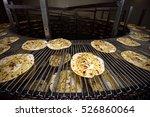 piadina pizza running on... | Shutterstock . vector #526860064