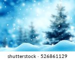 christmas winter background... | Shutterstock . vector #526861129