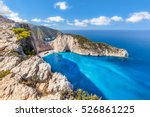 navagio beach and famous... | Shutterstock . vector #526861225