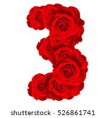 Red Roses Numbers 3 Made From...