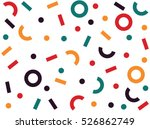 Retro abstract pattern in geometric style. Classic color with geometric figures. | Shutterstock vector #526862749