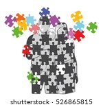 silhouette of family on a... | Shutterstock .eps vector #526865815