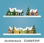 two christmas banners with... | Shutterstock .eps vector #526869349